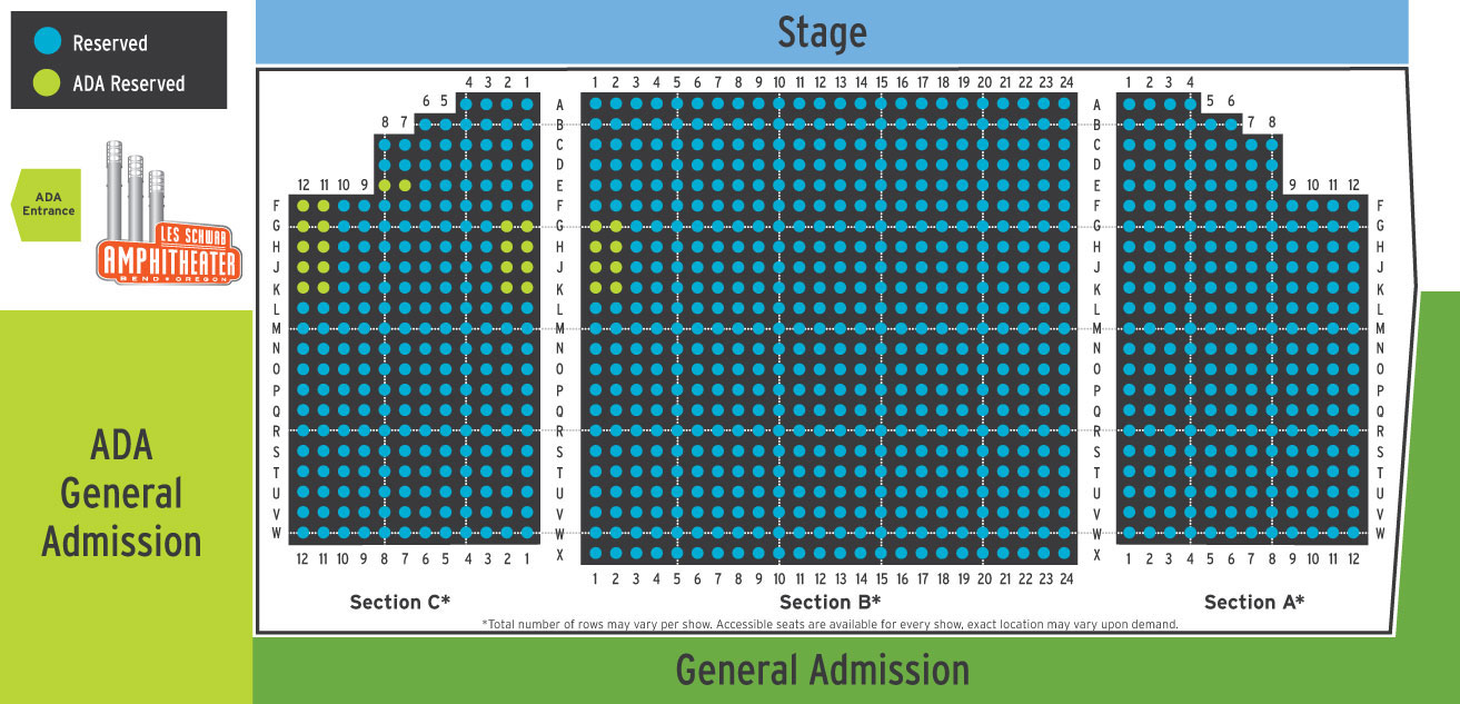 Section Seating and ADA Seating at the LSA